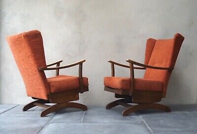 Pair of Vintage Armchairs Rocking Chairs 1950s - Delivery Available