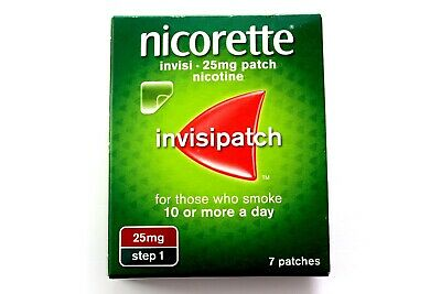 Nicorette Invisi - Invisipatch - 25mg Patch - Nicotine - STEP 1 - 7 Patches