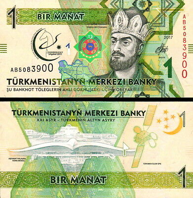 TURKMENISTAN - 1 manat 2017 Commemorative FDS - UNC