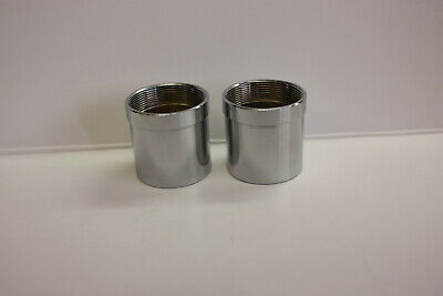 """.965"""" Chrome Plated Brass Telescope Eyepiece Barrels for making eyepieces Set/2"""