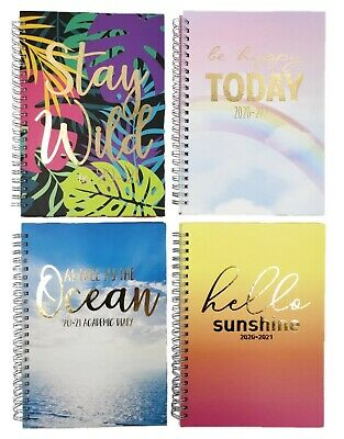2020 2021 A5 Academic Mid Year Week to View Student Teacher Diary Planner