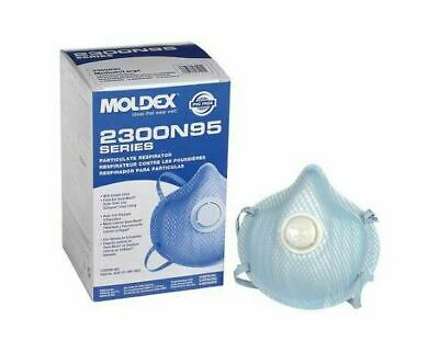 1 Box Moldex 2300 N95 Respirator W/Valve (10 Masks).  Flu Virus Protection!