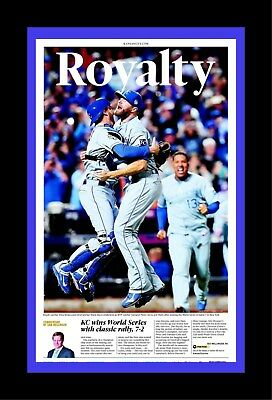 Kansas City Royals World Series Champion Matted Pic Of Newspaper Front Page #2