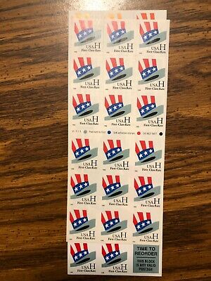 USPS Unused Stamps 'H' Value .33 Self Adhesive $99 Face Value 300 Stamps.