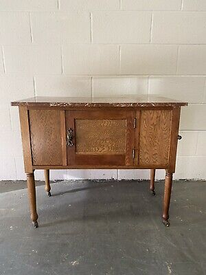Edwardian Rouge Marble Top Washstand
