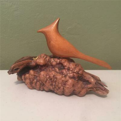 Gnarled Myrtle Wood With A Carved Bird On Top - Hand Crafted Bird