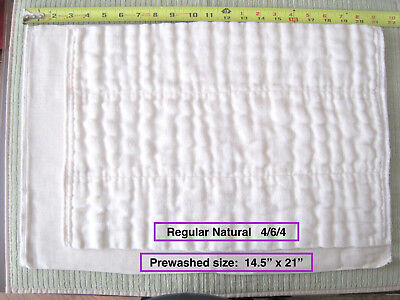 100% Cotton Chinese DSQ prefold diapers REG UNBLEACHED  (Large) 4/6/4  ON SALE!