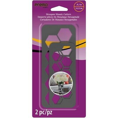 Premo Hexagon Mosaic Cutters (2 sizes) - 2wards Polymer Clay & Crafts
