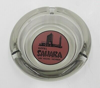 Vintage Hotel Sahara Las Vegas, Nevada Glass Ashtray