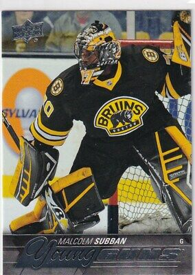 15/16 Ud Series 1 Malcolm Subban Young Guns Rc Sp Rookie #211