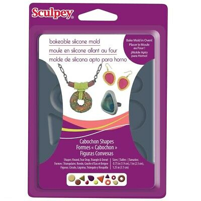 Sculpey Bakeable Cabochon Shapes Mould - 2wards Polymer Clay & Crafts