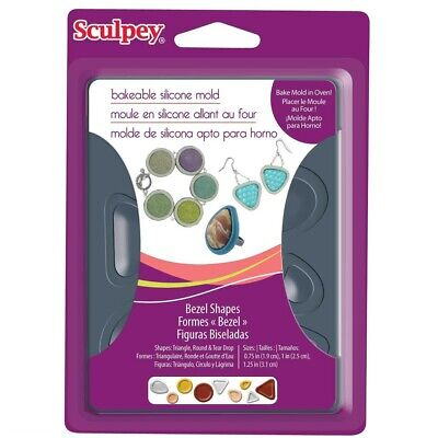 Sculpey Bakeable Bezel Shapes Mould - 2wards Polymer Clay & Crafts