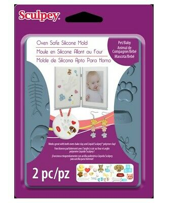Sculpey Silicone Bakeable Mold - Pet and Baby - 2wards Polymer Clay & Crafts