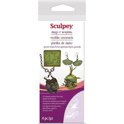 Sculpey Design It Templates - General Shapes - 2wards Polymer Clay & Crafts