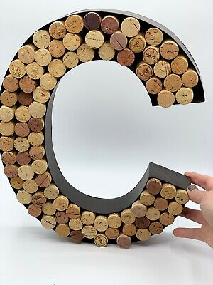 Pottery Barn PB Black Metal Decorative Wall Letter C with Wine Corks