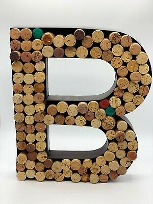 Pottery Barn PB Black Metal Decorative Wall Letter B with Wine Corks
