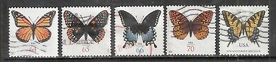 HI-FACE BUTTERFLIES #4462, 4603, 4736, 4859, 4999 Used US 64c-71c Stamps