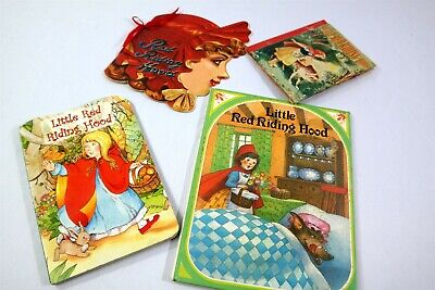 4pc Vtg Little Red Riding Hood Books Wishing Wells Little Color Classics Frog