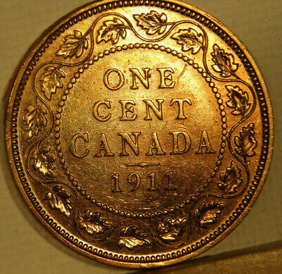 1911 CANADA CENT KM# 15 ** shipping included **