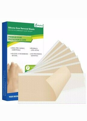 Scar Removal Sheet, Maybeau 7 PCS Medical Silicone Scar Patch