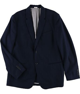 Calvin Klein Mens Professional Two Button Blazer Jacket, Blue, X-Large (Regular)