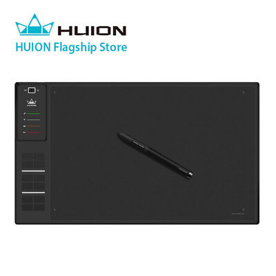 USED Huion Giano WH1409 Huge Graphics Drawing Tablet Wireless Pen Tablet 8GB