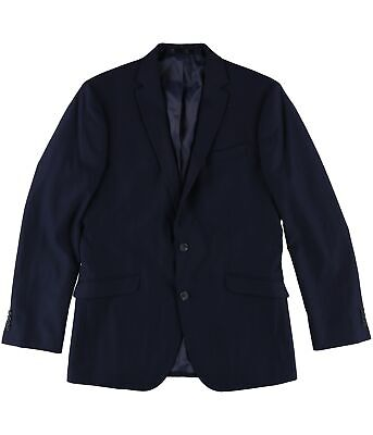 bar III Mens LS Two Button Blazer Jacket, Blue, 40 Long