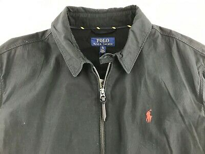 NEW Recent Polo Ralph Lauren Men XL Black Jacket Full Zip Casual Business $145
