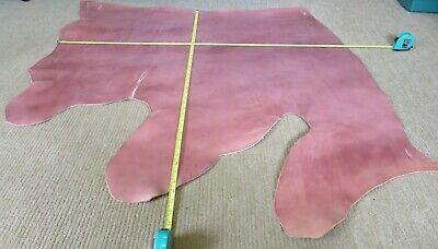 """TERRACOTTA  VEG TAN  LEATHER HIDE  40"""" X 38""""   2mm THICK  CLEARANCE"""