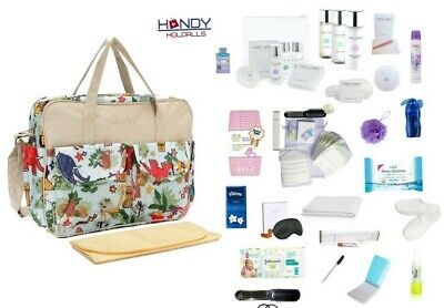 QUALITY Pre-Packed Maternity Hospital Baby Changing Bag With LUXURY Toiletry Kit