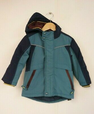 Baker by Ted Baker Boys Blue & Green Coat (UK Size Age 3-4 Years)