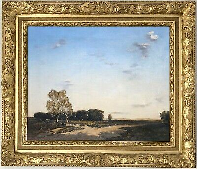 Rural Landscape Antique Oil Painting by David Murray Smith RBA RWS (1865-1952)