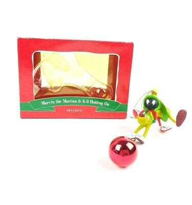 Marvin the Martian & K-9 Holding On  Christmas Ornament Warner Brothers Rare