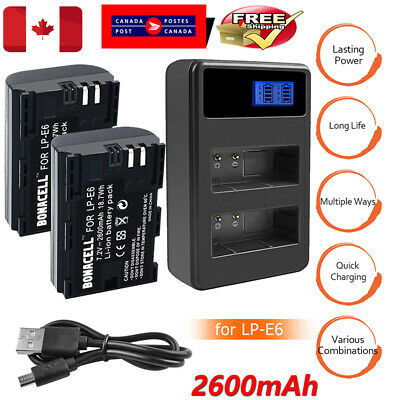 LP-E6 Battery Or Charger for Canon EOS 80D 70D 60D 5D Mark II III IV 5DS 5DS R