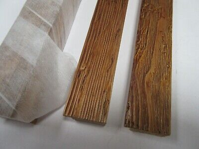 4m (4x1m) Distressed Effect Antique Pine Wooden Picture Frame Moulding 31mm