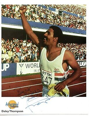 Daley Thompson Olympic Gold Medalist Hand Signed 10x8 Autographed Edition