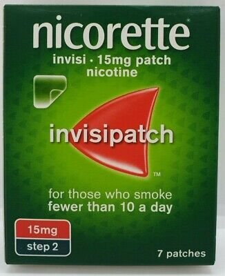Nicorette InvisiPatch, Step 2, 15mg, 7 Nicotine Patches