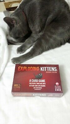 Exploding Kittens Base Game, Original Edition (Cat not included!)