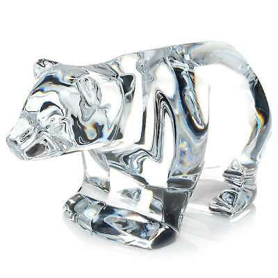 """Waterford Crystal 6"""" Hand-Sculpted Polar Bear Collectible"""
