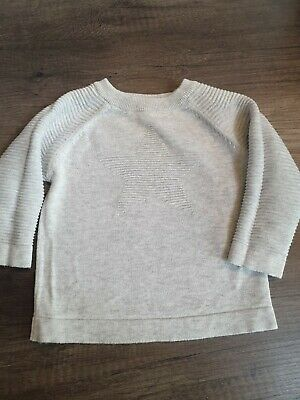 Boys Clothes Next grey star Jumper 9-12 Months immaculate