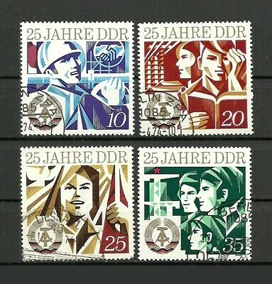German DDR 1974 The 25th Anniversary of DDR Stamps - F/VF / Used
