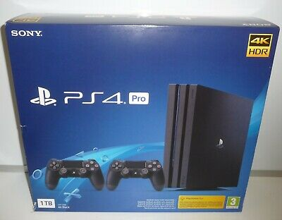 Console Ps4 Pro 1Tb Limited With 2 Controller Dual Shock Cuh-7126B New Pal