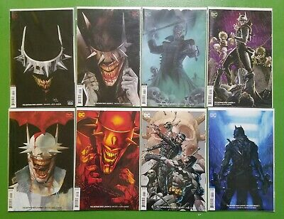 Batman Who Laughs #1-7 Complete Set & Grim Knight #1 1St Prints Variants Dc Nm