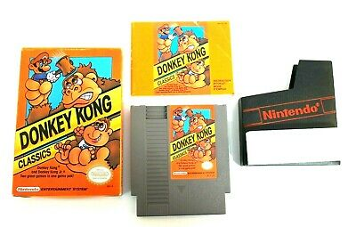 Donkey Kong Classics NES Nintendo 1988 CIB w/Box Manual Cartidge & Sleeve