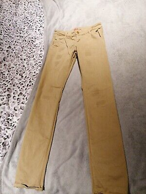 Boys Beige Jeans Trousers From GUESS Age 14 Vgc