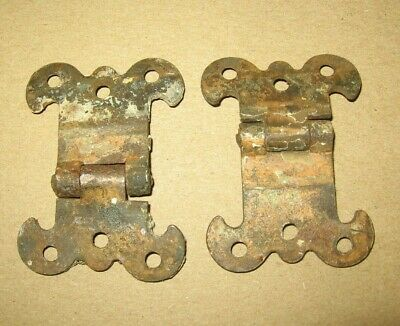 2 Antique Metal Cupboard Cabinet Butterfly Hinges~Stock Part 1
