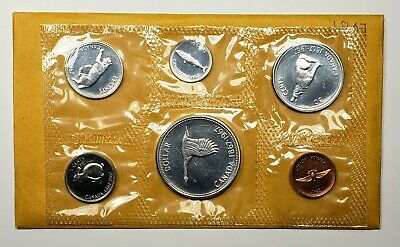 """1969 Canadian RCM issued Uncirculated /""""Proof-Like/"""" Coin Set c//w card /& Envelope"""