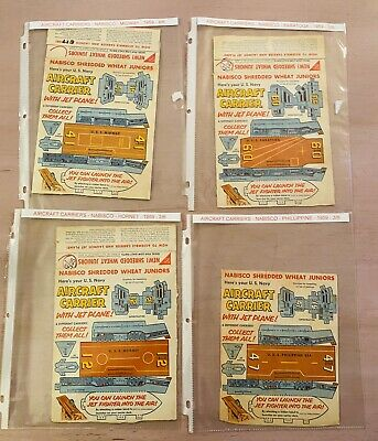Nabisco Cereal Premiums ~ Air Craft Carriers ~ Lot of Four ~ 1959