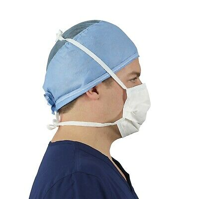 Made in USA Level 2 Surgical Medical Face Mask Tie on,Blue, 50 /Box .