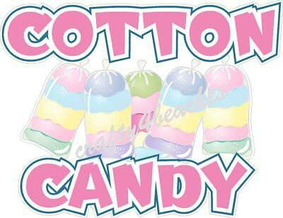 Cotton Candy sticker machine concession Trailer FOOD TRUCK FAIR  ADVERTISING